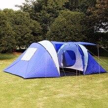 GOPLUS 6-8 Человек/Человек Водонепроницаемый Лагерь 2 + 1 Номер OP2494 Походы Кемпинг Семейная Палатка Тоннель