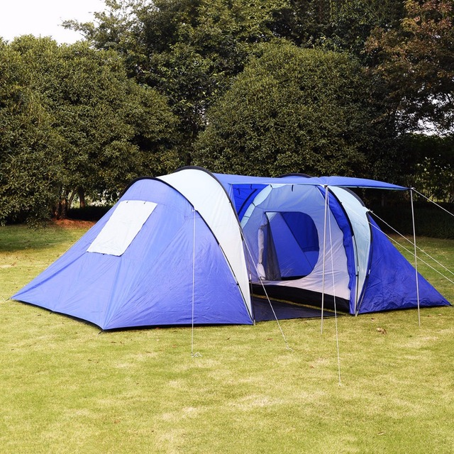 GOPLUS 6-8 Person/Man Waterproof C& 2+1 Room Hiking C&ing Tunnel & GOPLUS 6 8 Person/Man Waterproof Camp 2+1 Room Hiking Camping ...