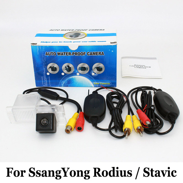 For SsangYong Rodius / Stavic 2004~2016 / RCA AUX Wire Or Wireless Camera / HD Wide Lens Angle CCD Night Vision Rear View Camera