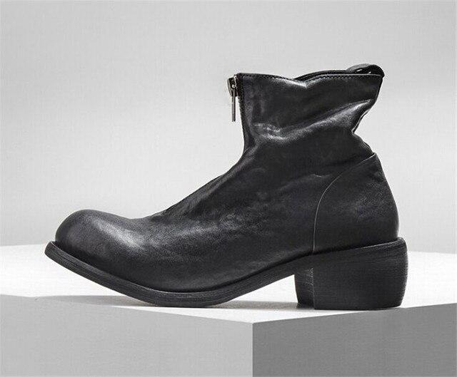 2019 haute qualité en cuir hommes bottes hiver chaud imperméable bottines bottes déquitation travail de plein air neige bottes chaussures pour hommes