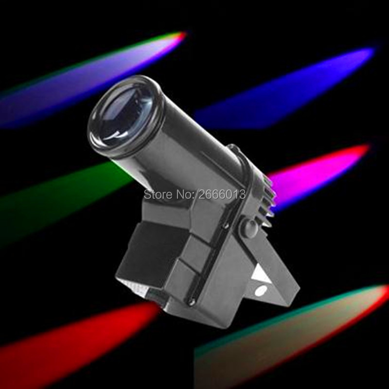 ФОТО Free shipping Mini 10W RGBW 4in1 LED DMX512 Spot Beam Pinspot Stage Lighting Party Lamp DJ Disco Light dmx512 led pinspot light