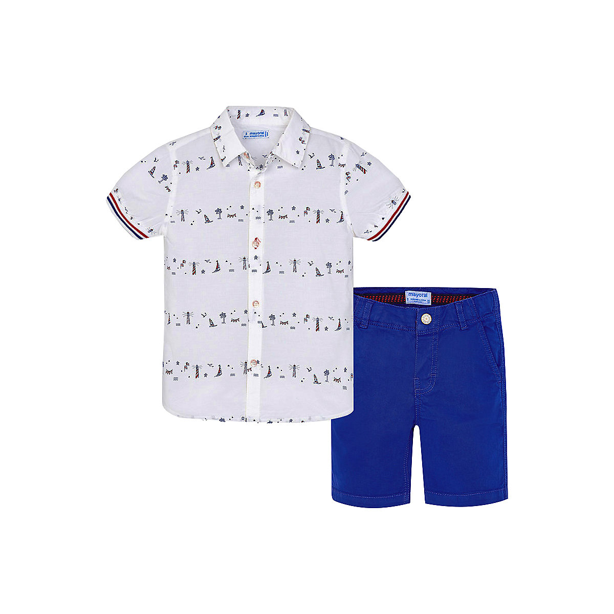 Фото - Baby's Sets MAYORAL 10690561 set of clothes for kids T-shirt legs shirt shorts girls and boys shein kiddie girls white striped side casual top and shorts two piece set clothes sets 2019 spring long sleeve kids suit set