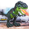 New Large Remote control Electric Walking Dinosaur Toys Kids Walk Animals Model Toys with Light Spray for Children Recognization flash sale