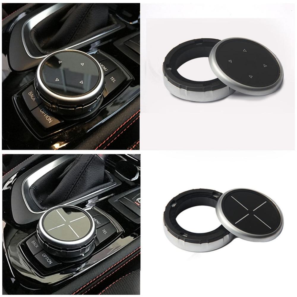 Dewtreetali iDrive Car Multimedia Buttons Cover M Emblem Stickers for BMW X1 X3 X5 X6 F30 E90 F10 F18 F11 F15 F16 F25 E60 E61