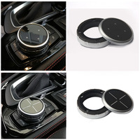 Dewtreetali IDrive Car Multimedia Buttons Cover M Emblem Stickers For BMW X1 X3 X5 X6 F30