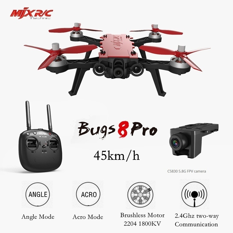 RC Racing Drone Brushless Quadcopter MJX Bugs 8 Pro Brushless with 3D Flips Remote Control Drone Toy Aircraft Toys for Children цена