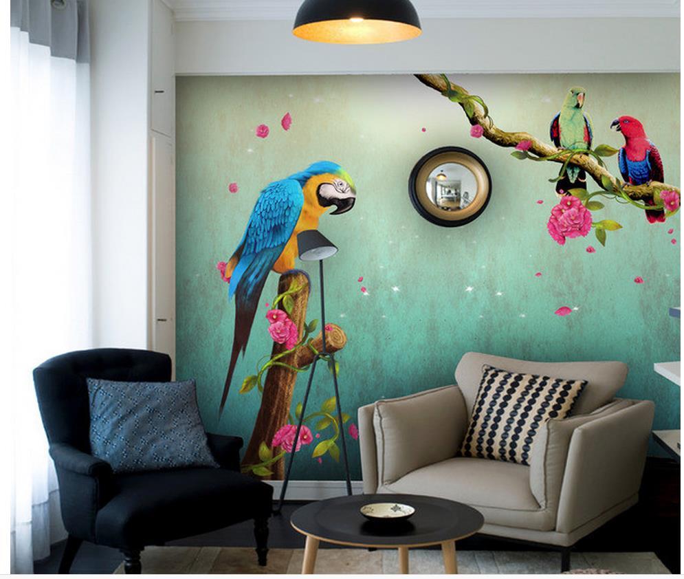 Papel tapiz para paredes 3d decoraci n del hogar flores y for Murales de pared