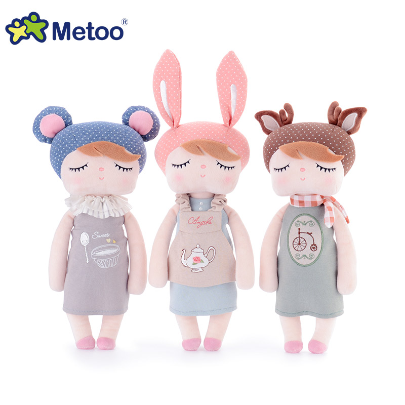 Big size Genuine Metoo Angela plush dolls baby toys  for children girl kids toys 43cm and 33cm Bunny Rabbit stuffed animals hot sale 12cm foreign chavo genuine peluche plush toys character mini humanoid dolls