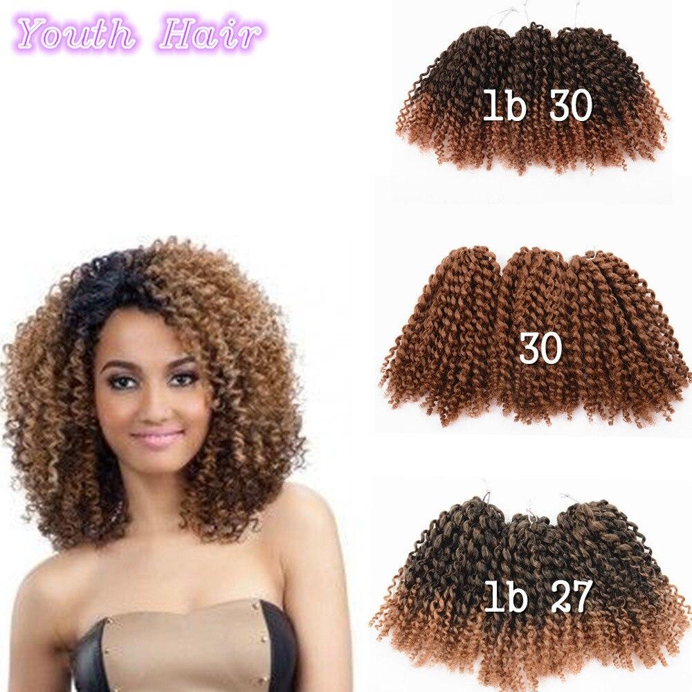 3pcs Lot Afro Kinky Curly Mali Bob Crochet Braids Twist