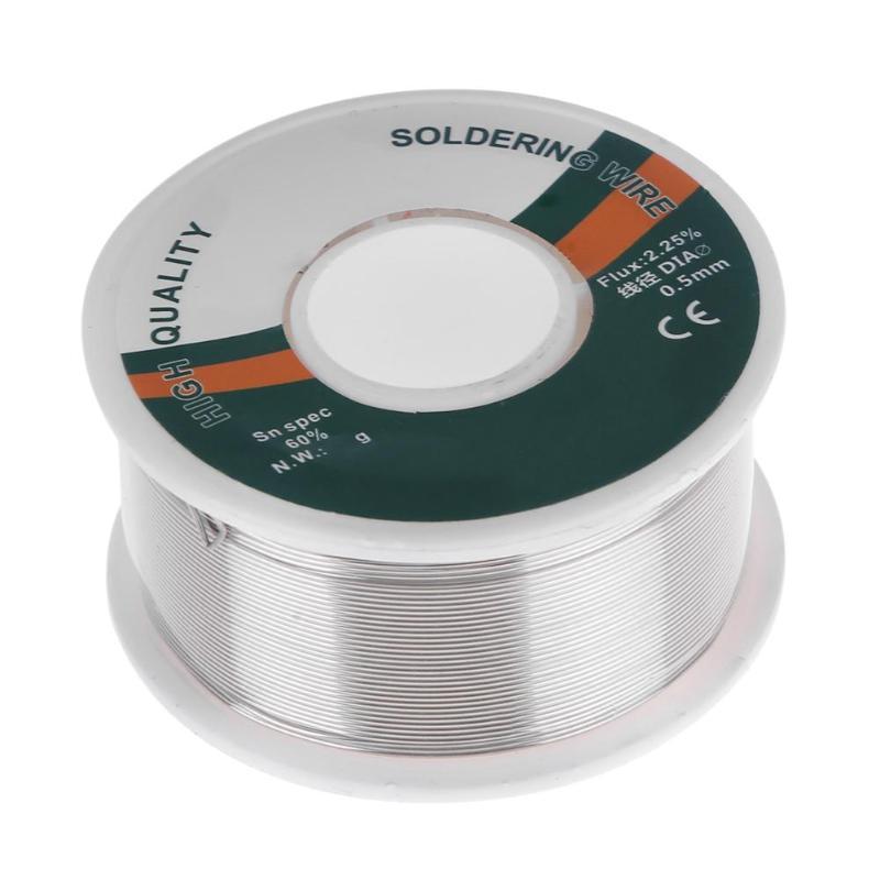 0.5mm Pb Solder Wire 100g 60 Colofonia Nucleo Saldatura Filo di Ferro Reel Saldatura Flux 2.25 Per Cento