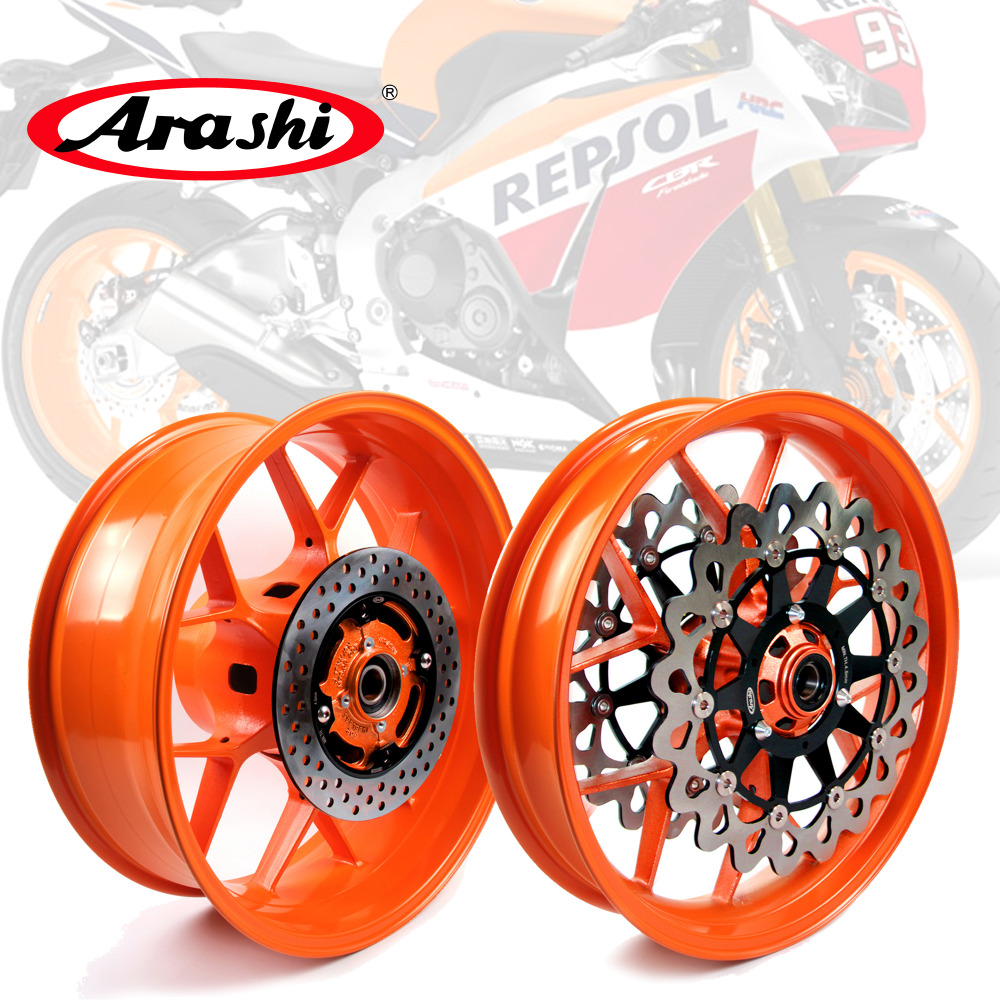 Arashi Respol Front Rear Wheel Rim For HONDA CBR1000RR 2008-2016 Rims Brake Disc Rotors CBR1000 CBR 1000 RR 2007 2008 2009 2010 ручка газа для мотоциклов neverland 50 ons handlle honda cbr1000rr 2009