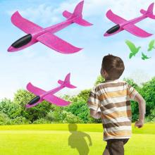 48cm Hand Throw Rc Airplane Rose Red Epp Foam Outdoor Launch Glider Flexible Plane Kids Toy Free Fly Model