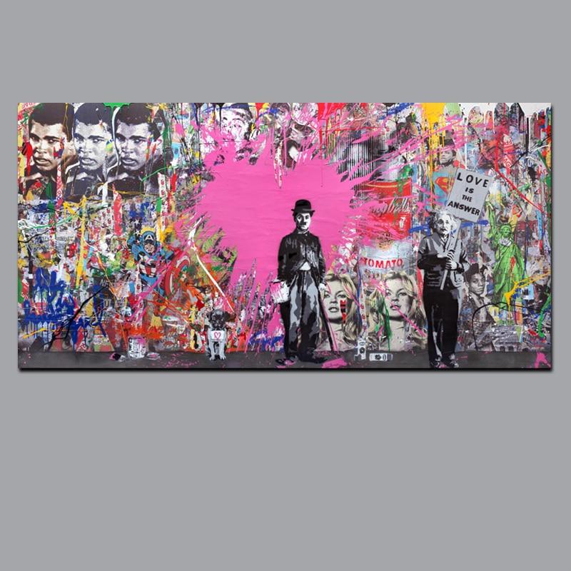 Buy Banksy Art Graffiti Prints - Charlie Chaplin HD Print on Canvas ...