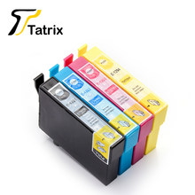 Полный чернильный картридж Tatrix 4PK T1291 1292 1293 1294 для Epson Stylus SX230 SX235W SX420W SX425W SX430W SX435W SX438W с чипом