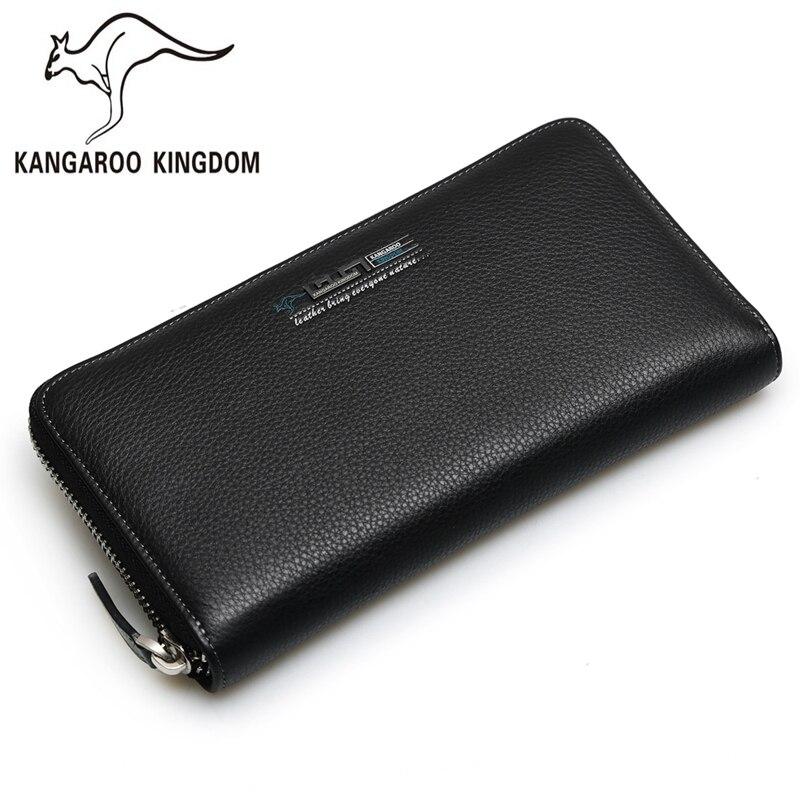 Kangaroo kingdom lujo moda hombres bolsa de hombres bolso de embrague de cuero g