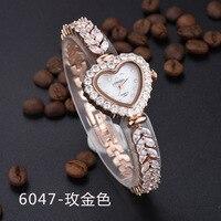 LONGBO Korean Fashion Diamond Watch Waterproof Female Student Luxury Lady Rhinestone Bracelet Watch