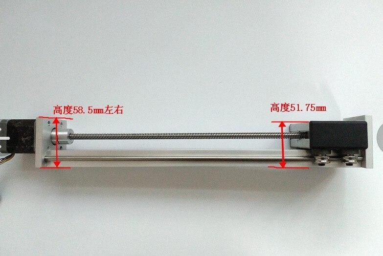 Funssor eixo Z kit trilho Deslizante com motor de passo NEMA17 100-1000mm curso efectivo TR8 chumbo parafuso para CNC 3D Reprap impressora