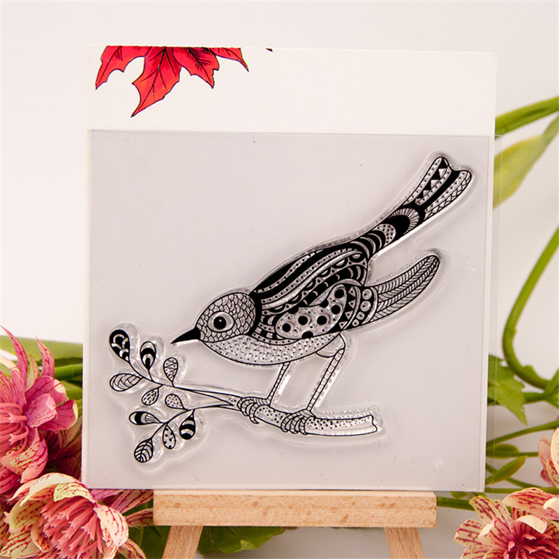 scrapbook DIY paper card About big bird and leaf clear STAMPS FOR PHOTO scrapbooking stamp for christmas wedding gift RM-56