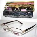Titanium frame dourado do vintage revestimento antireflective senhores Não esféricas óculos de leitura + 1.0 + 1.5 + 2.0 + 2.5 + 3.0 + 3.5 + 4.0