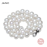 10 11mm Large Natural Pearl Necklace Special Offer Super Mother S Gift Wedding Jewelry