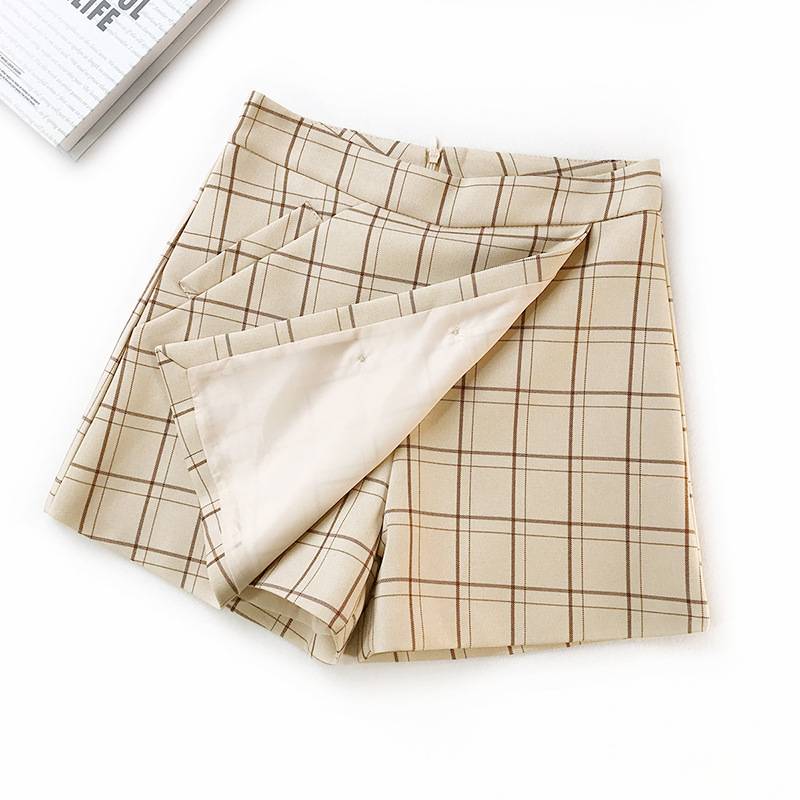 CARP TALE 2019 Spring Summer Sexy Skirt Women Bottoms Fashion plaid A line Ruffles Sexy Club Regular Outwear Women Skirts female in Skirts from Women 39 s Clothing