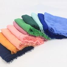 Women Maxi solid scarf bubble plain muslim hijab scarves pashmina foulard shawls bandana fashion head big and wraps