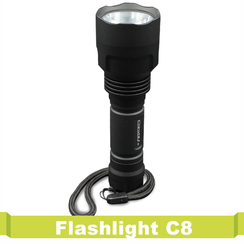 Powered By 18650 Battery Waterproof For Hiking Camping Flashlight C8 Super Bright Led Convoy Led Flash Light Torch Lanterna ирригатор waterpik wp 462e2