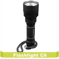 Powered By 18650 Battery Waterproof For Outdoor Hiking Camping Flashlight C8 Super Bright Convoy LED Flash Light Torch Lanterna