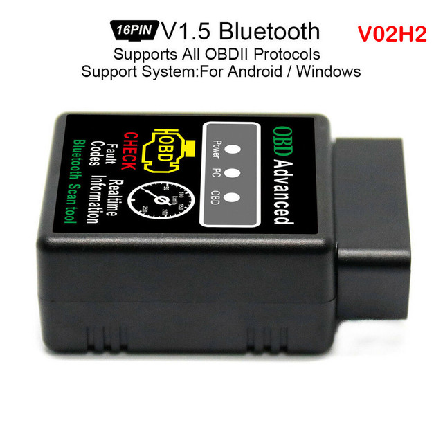 CARPRIE Instrument Tool hot sale V02H2 Bluetooth Scanner V1.5 Wireless Interface Code Reader Diagnostic Tool high quality 9604