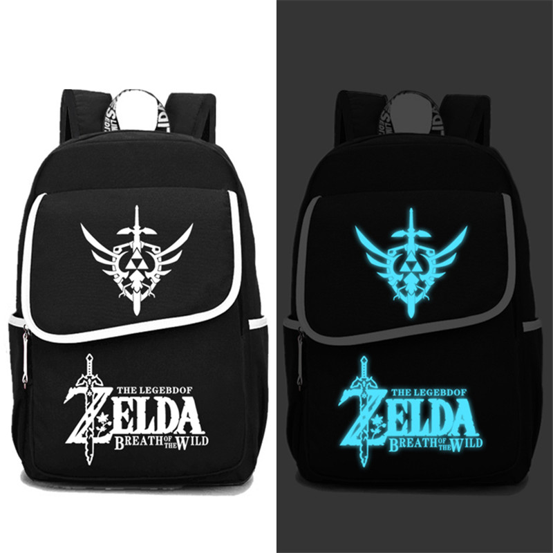 2017 New The Legend of Zelda Breath of the Wild Luminous Printing Women Backpack Large Travel