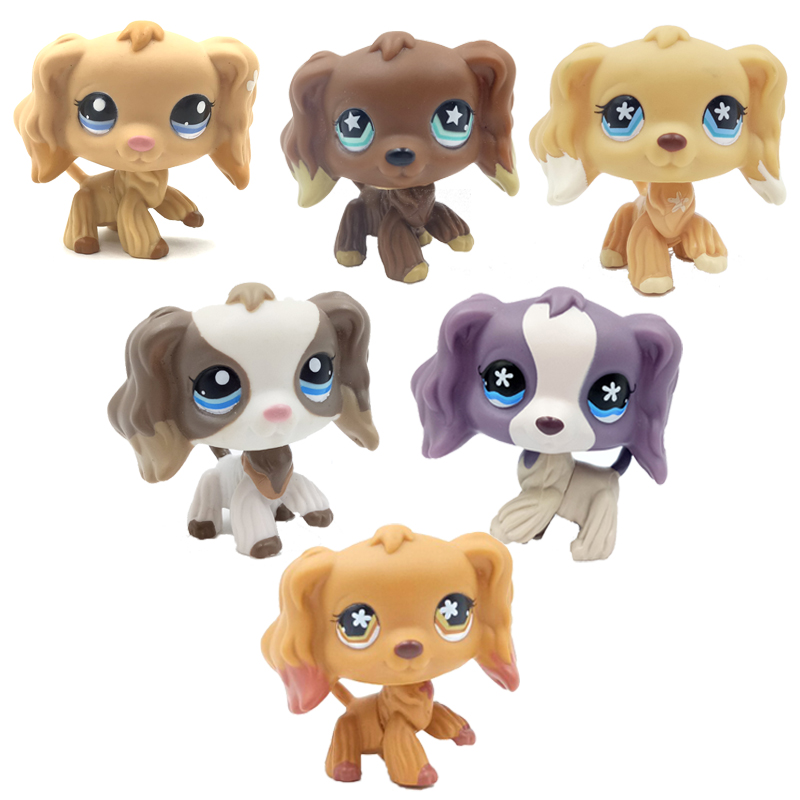 Echt pet shop lps spielzeug littlest Hunde Cocker Spaniel seltene tier alte sammlung original action figur spielzeug für kinder