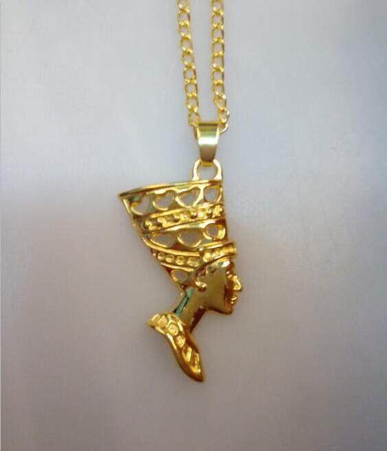 ᗑJoyería de moda Egipto reina Nefertiti 24 K oro antiguo Aleación ...