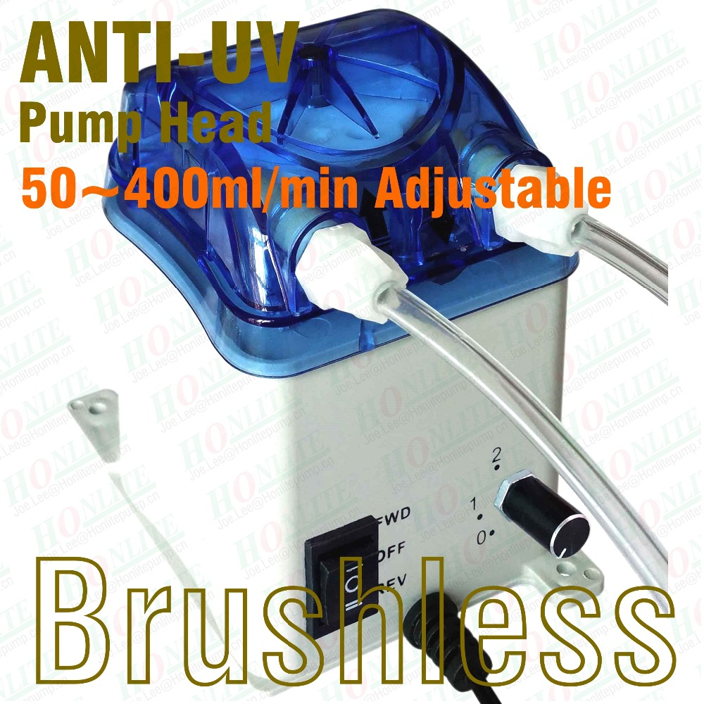 50~400ml/min, 24V Peristaltic Pump, Reversible Brushless Motor, Exchangeable Pump Head & FDA approved PharMed Peristaltic Tube industrial peristaltic pump n6 3l 0 211 3600 ml min 0 1 600 rpm rs485