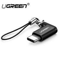 Ugreen micro usb к Тип c кабель зарядного устройства конвертер для samsung huawei xiaomi sony oneplus зарядное устройство Android otg 2,4