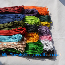 DIY Jewelry Wire Handcraft Accessories Wholesale 10M Waxed Cotton Beading Cord Rope 1mm Bracelet And Necklace Finding 27 colors