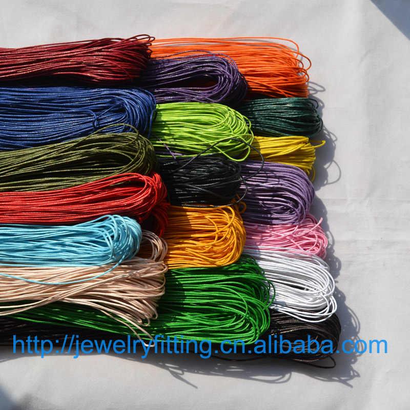 Diy jóias fio artesanato acessórios atacado 10 m encerado algodão beading cabo corda 1mm pulseira e colar encontrar 27 cores