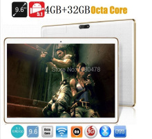 9.6 pulgadas tablet pc Octa core 3G 4G LTE wifi bluetooth GPS 1280*800 5.0MP 4 GB 32 GB Android 5.1 Phablet MID DHL Libre gratis