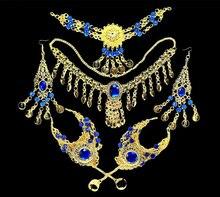 Ensemble de bijoux pour femmes, bijoux de danse du ventre indien, ensemble de 6 pièces, vente en gros, accessoires de danse du ventre, 2016