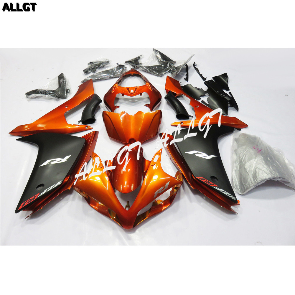 Pre-drilled ABS Molded Orange <font><b>Fairing</b></font> Kit Bodywork for <font><b>Yamaha</b></font> Yzf <font><b>R1</b></font> <font><b>2007</b></font> 2008 image