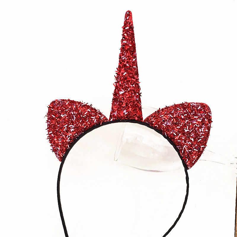Новый узор может Блестящий Единорог повязка для волос Единорог кошачьи уши ободок для вечеринки Сексуальная головная повязка, аксессуары для волос для женщин обруч для волос