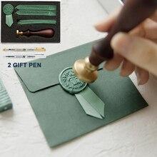 Retro Luxury Creativity Paint Wax Set DIY Handmade Ribbon Label Cute Envelope Stamps Seal for Wedding Invitation Gift Decoration