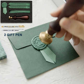 Retro Luxury Creativity Paint Wax Set DIY Handmade Ribbon Label Cute Envelope Stamps Seal for Wedding Invitation Gift Decoration - DISCOUNT ITEM  36% OFF All Category