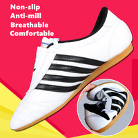 Professional Taekwondo Shoes For Kids Adult WTF PU Leather Breathable Kung Fu Karate Martial Arts Training