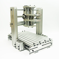 no tax to russia cnc lathe DIY CNC engraver 2520 Base frame kit mini cnc router milling