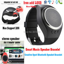 Smart Bluetooth Speaker Bracelet Pedometer Calorie Sleep Monitor TF Card Answer Call Phone Wristband font b