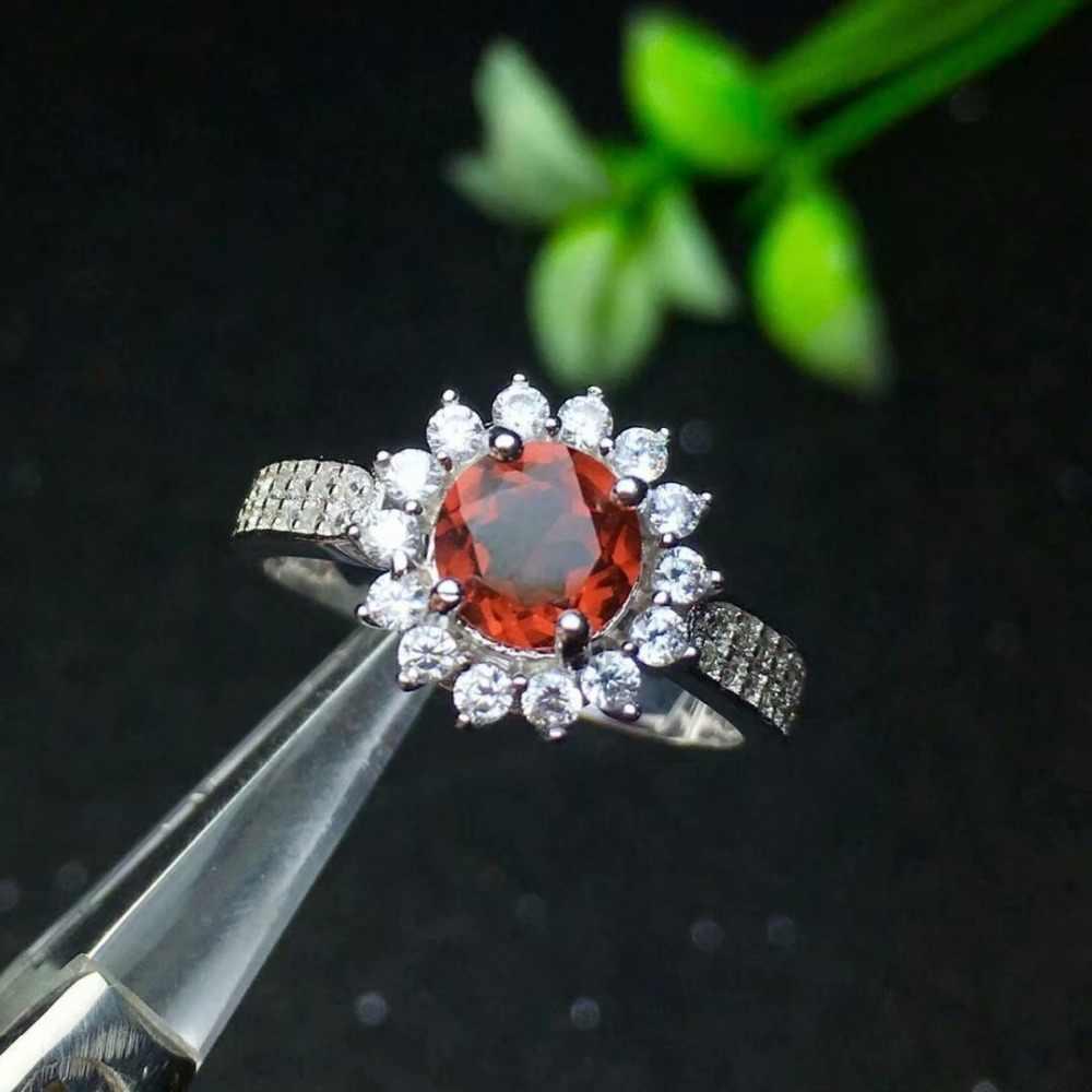 SHILOVEM 925 ธรรมชาติโกเมนแหวนเปิดส่งคลาสสิกขายส่งปรับผู้หญิงของขวัญ 2018 ใหม่ lj060601ags