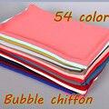 Высокое качество обычный пузырь шифон printe сплошной цвет шали повязка пляж популярные хиджаб лето мусульманин шарфы/шарф 10 шт./лот