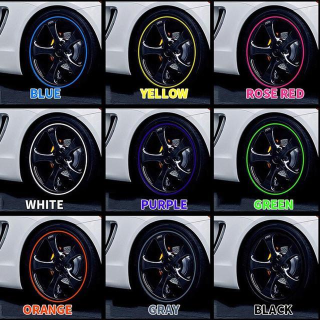 Chaude 8 M voiture roue Protection roue autocollant bande décorative Protection des pneus soins couverture goutte bateau voiture forme Modification 5