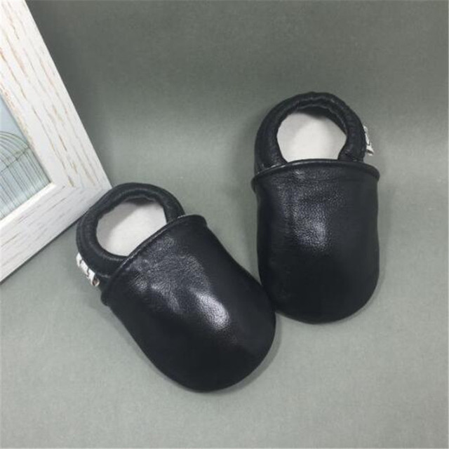 Soft Genuine Leather Baby Boys Girls Infant Shoes Slippers 0-6 6-12 12-18 New Style First Walkers Leather Skid-Proof Kids Shoes