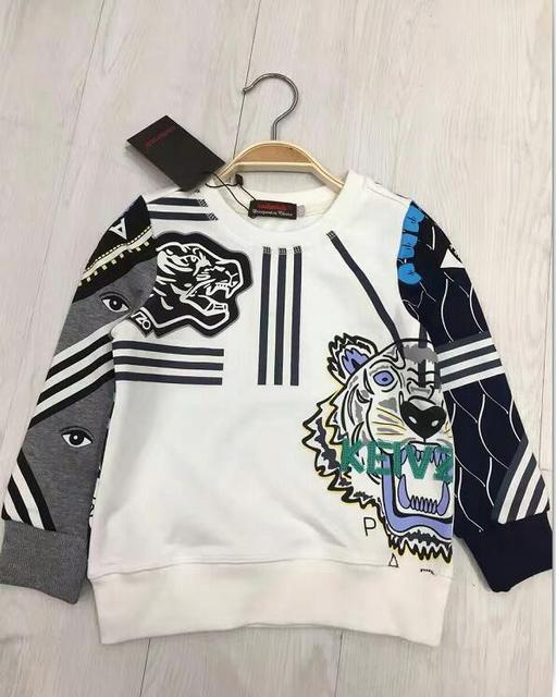 Cadimidi 13 estilo Crianças Hoody tigre letras bordados jerseys Meninos caçoa o Hoodie sportswear atacado